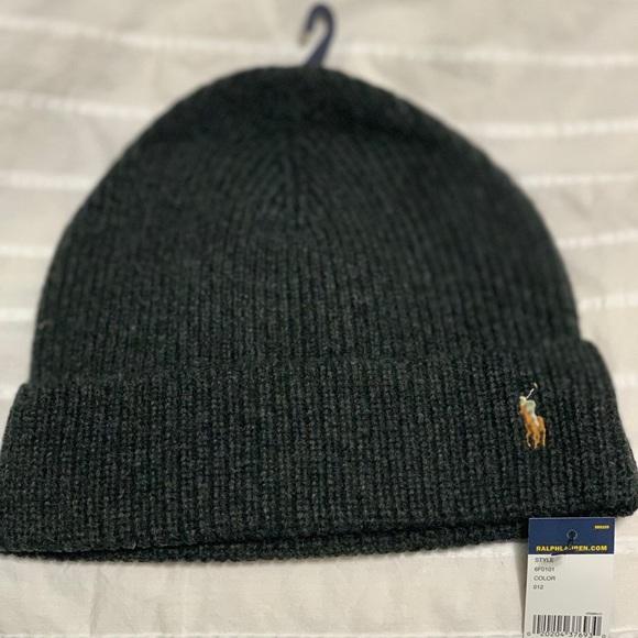 Merino Wool Men s Polo Beanie Hat. NWT. Polo by Ralph Lauren fa3e16069c96